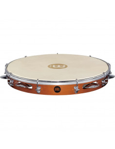 """Meinl,Traditional Wood Pandeiro With Holder Chestnut 12"""""""