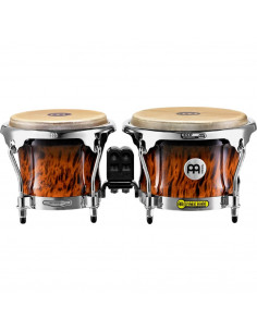 "Meinl,FWB400BB,Professional Series Wood Bongo,Brown Burl,7"" x 8 1/2"""