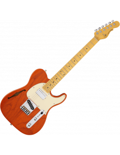 G&L,TASCBSH-CLO-M,Tribute ASAT Classic Bluesboy Semi Hollow, Clear Orange