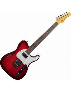 G&L,TASCBSH-RDB-R,Tribute ASAT Classic Bluesboy Semi Hollow,burst