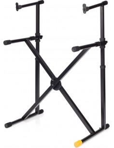 Hercules - KS210B,ez-lok double tier x-keyboard stand