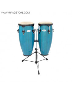Toca - Synergy Wood Congas Set, Double Stand