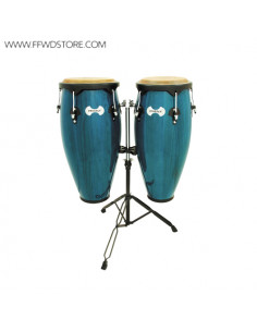 Toca - Synergy Wood Congas Set, Basket Stands